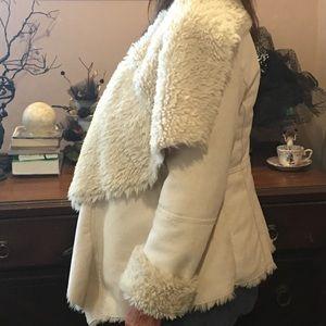 Faux Suede and Faux Fur Coat 🧥